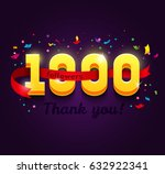 thank you 1000 followers... | Shutterstock .eps vector #632922341