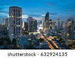 an aerial view of bangkok... | Shutterstock . vector #632924135