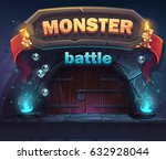 monster battle gui boot window. ... | Shutterstock .eps vector #632928044