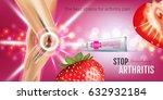 arthritis pain relief ointment... | Shutterstock .eps vector #632932184