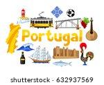 portugal background design....   Shutterstock .eps vector #632937569