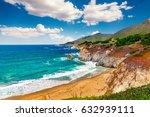 beautiful coastline scenery on... | Shutterstock . vector #632939111
