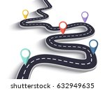 3d winding road on a white... | Shutterstock . vector #632949635