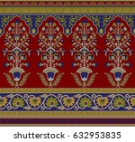 seamless traditional indian... | Shutterstock . vector #632953835