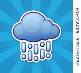 vector illustration. cloud with ... | Shutterstock .eps vector #632955404