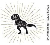 tyrannosaurus rex silhouette... | Shutterstock .eps vector #632956421