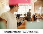 business team sitting in... | Shutterstock . vector #632956751