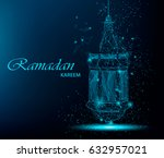 ramadan kareem beautiful... | Shutterstock .eps vector #632957021