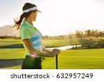 professional female golfer... | Shutterstock . vector #632957249