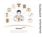 medicine and healthcare... | Shutterstock .eps vector #632958701