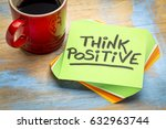 think positive   inspirational... | Shutterstock . vector #632963744