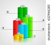modern infographics 3d colorful ... | Shutterstock .eps vector #632966285