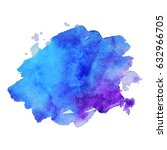 abstract hand drawn watercolor... | Shutterstock .eps vector #632966705