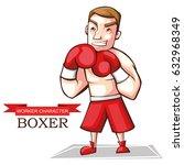 vector illustration of a boxer... | Shutterstock .eps vector #632968349