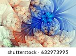 abstract fractal patterns and... | Shutterstock . vector #632973995