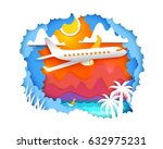 paper art and craft style.... | Shutterstock .eps vector #632975231