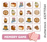 memory game for children  cards ... | Shutterstock .eps vector #632975564