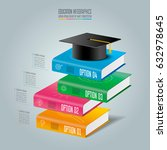 education infographics template ... | Shutterstock .eps vector #632978645