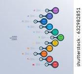 infographics timeline template... | Shutterstock .eps vector #632982851