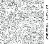 traditional oriental seamless... | Shutterstock .eps vector #632983145
