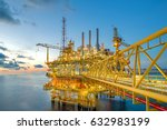 industrial offshore oil and gas ... | Shutterstock . vector #632983199