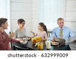 close knit family of four... | Shutterstock . vector #632999009