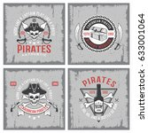 lifestyle of pirates concepts... | Shutterstock .eps vector #633001064