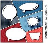 abstract creative concept comic ... | Shutterstock .eps vector #633001871