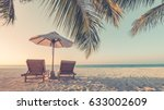 beautiful beach.  summer... | Shutterstock . vector #633002609