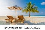 beautiful beach. honeymoon... | Shutterstock . vector #633002627