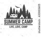 summer camp. vector... | Shutterstock .eps vector #633003605