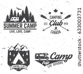 summer camp. vector... | Shutterstock .eps vector #633003731