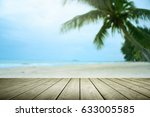 beach background with palm tree ... | Shutterstock . vector #633005585
