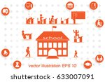 school icon vector illustration ... | Shutterstock .eps vector #633007091