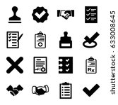 agreement icons set. set of 16... | Shutterstock .eps vector #633008645