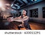 athlete in sport sportswear... | Shutterstock . vector #633011291