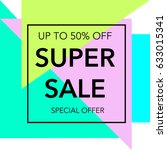 sale up to 50  off colorful...   Shutterstock .eps vector #633015341
