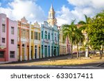 colorful houses of antenor... | Shutterstock . vector #633017411