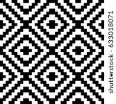 vector seamless pattern.... | Shutterstock .eps vector #633018071