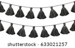 vector black double hanging... | Shutterstock .eps vector #633021257