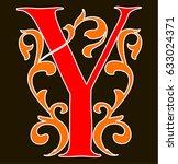 capital letter y. large letter. ... | Shutterstock .eps vector #633024371