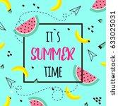vector of bright summer cards.... | Shutterstock .eps vector #633025031