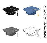 the cap of the graduate is... | Shutterstock .eps vector #633025061