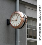 street clock | Shutterstock . vector #633025454