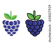 cartoon blackberry set | Shutterstock .eps vector #633027929