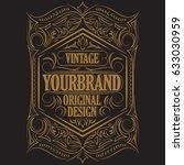 antique label  vintage frame... | Shutterstock . vector #633030959