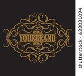 antique label  vintage frame... | Shutterstock . vector #633031094