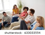friendship  communication and... | Shutterstock . vector #633033554