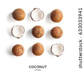Seamless Pattern With Coconut....