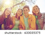 friendship and people concept   ... | Shutterstock . vector #633035375
